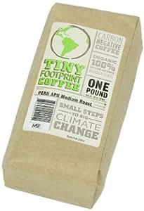 Tiny Footprint Organic Peru APU Medium Roast Coffee, Whole Bean, 1 Pound