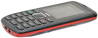 SPICE Power 5511 Dual Sim Mobile with 0.3mp Camera and 4.5 cm Screen (Black and Red)