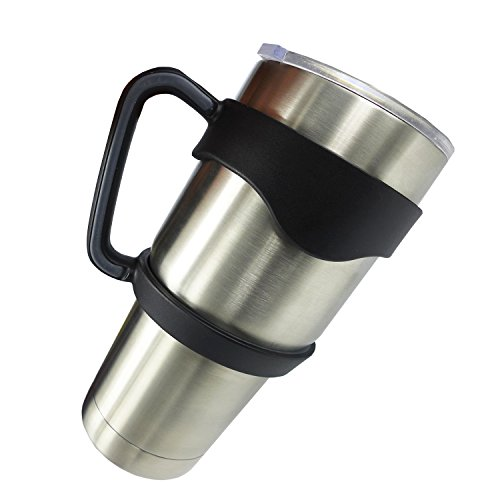 Anti-Slip Cup Handle for 30 oz YETI ,RTIC ,Tumbler Ramblers By EHME Brand + Anti-Slide Adhesive Coasters(Cups not Included)