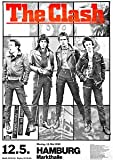 Paramount Prints THE CLASH - 1980 Hamburg Germany Retro Concert Promotional Poster - Poster Size : A4