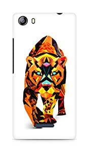 Amez designer printed 3d premium high quality back case cover for Micromax Canvas 5 (E481) (Abstract Tiger)