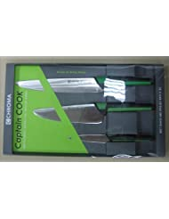 Chroma Kid(SML) Captain Cook Kids Set Of 3 Knives Includes Paring,Chef and Carving by Chroma