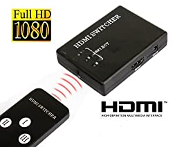Gadget Hero's 3 Port Mini 1080p HDMI Switcher Splitter Box for PS3 HDTV DVD with Remote