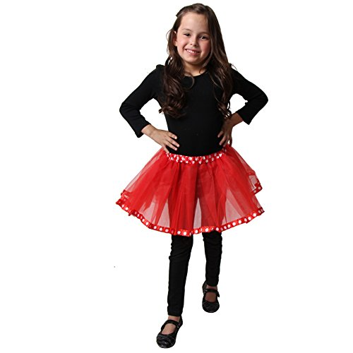 Girls Red & White Polka Dot Tutu - 1