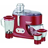 Maharaja Whiteline Ultimate Red Treasure JX-101 550-Watt Juicer Mixer Grinder (Red and silver)