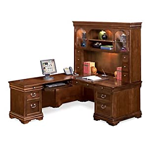 Amazon Com L Shaped Desk With Left Return And Hutch