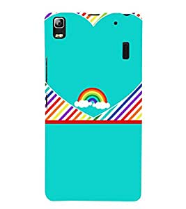 Beautiful Rainbow Pattern 3D Hard Polycarbonate Designer Back Case Cover for Lenovo K3 Note