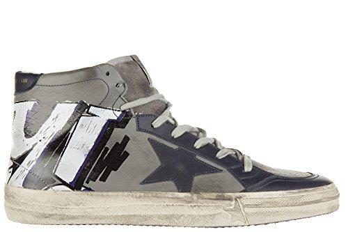 Golden-Goose-zapatos-zapatillas-de-deporte-largas-hombres-en-piel-nuevo-212-gri