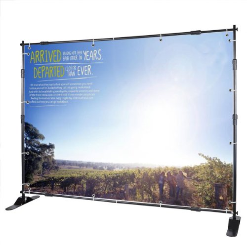 8' Jumbo Tron Telescopic Trade Show Adjustable Banner Stand Movie Screen