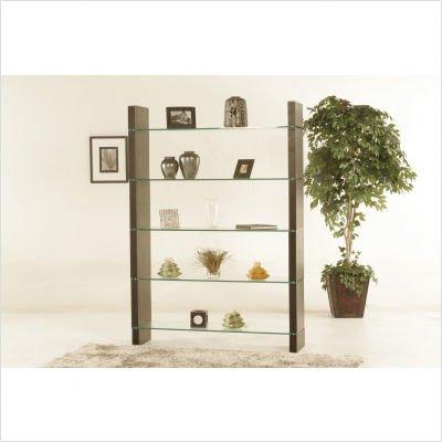 Diamond Sofa 80-Inch Glass Bookcase or Room Divider