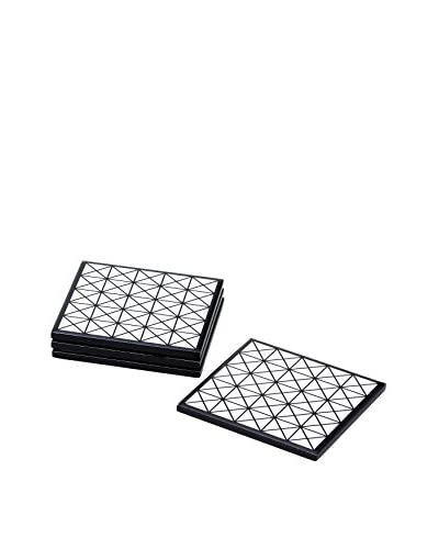 Torre & Tagus Set of 4 Diamond Deco Pattern Coasters