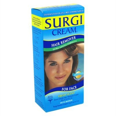 Surgi-Care Surgi-Cream Hair Remover for Face, Extra Gentle, Fresh Scent-1.5 oz
