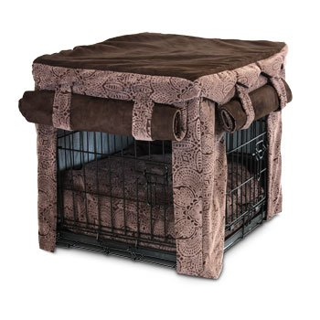 Snoozer Cabana Pet Crate Cover With Pillow Dog Bed, X-Large, Amulet front-907382