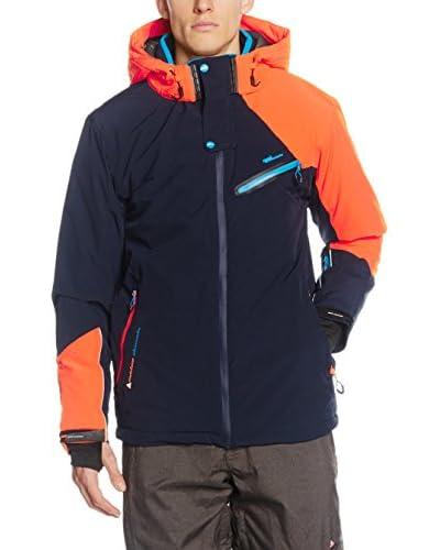 Peak Mountain Chaqueta de Esquí Calis Azul Oscuro / Naranja