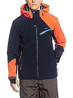 Peak Mountain Chaqueta de Esquí Calis (Azul Oscuro / Naranja)