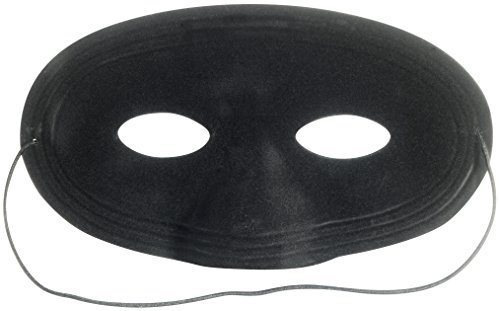 Loftus Cowboy Dastardly Bandit Bad Guy Half Mask, Black, One-Size