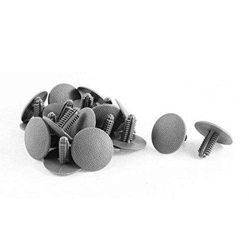 20 Pcs Gray Trim Panel Fastener Clips 7.5mm Hole (2001 Honda Civic Body Parts compare prices)