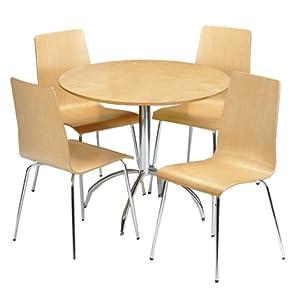 Julian Bowen Mandy Table Maple Amazon Kitchen & Home