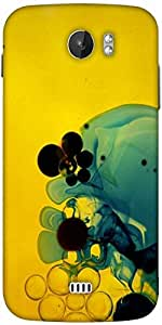 Snoogg Aqua Designer Protective Back Case Cover For Micromax A110