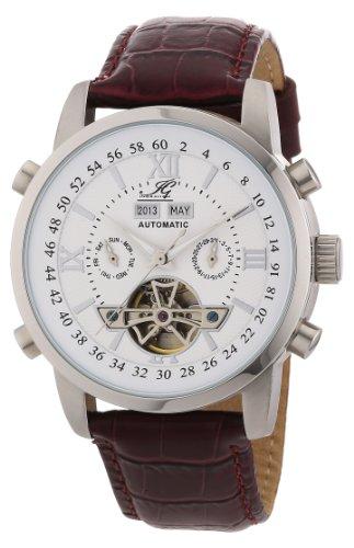 Ingraham - IG CALC.1.200103 - Montre Homme - Automatique - Analogique - Bracelet Cuir Marron