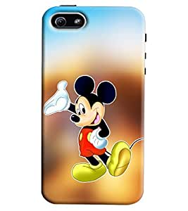 Clarks Micky Mouse Hard Plastic Printed Back Cover/Case For Apple iPhone 5s