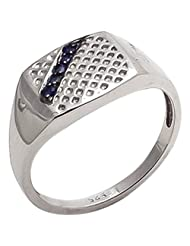 925 Sterling Silver Natural Blue Sapphire Gemstone 's Ring For Men - B00VJZH4DQ