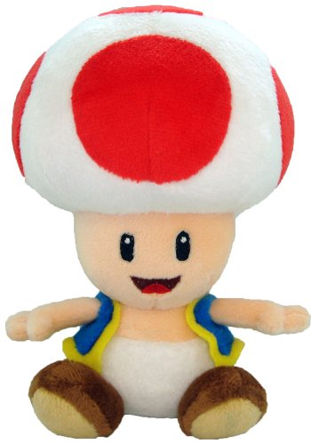 gadget geek - super mario plush toad soft stuffed plush toy japanese import japan import