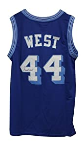 Jerry West Los Angeles Lakers Autographed Hand Signed Blue Adidas Jersey by Hall of Fame Memorabilia