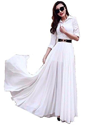 Shree Fashion Woman's Georgette With Dupatta [New White Kurtis )