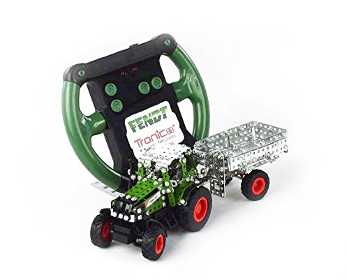 Tronico-Toys-09521-Metallbaukasten-Traktor-Fendt-800-Vario-mit-Kippanhnger-ferngesteuert-Mastab-164
