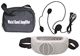 Audio2000\'S AWP6202  Waist-Band Portable PA System with a Headset Microphone