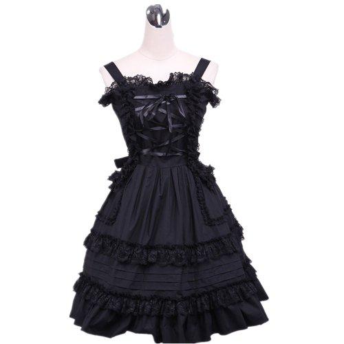 Girls & Secrets Cosplay Lolita nero Corte da Cameriera Masquerade Costume Parrucca Suit Serie 3 Black46 XXL