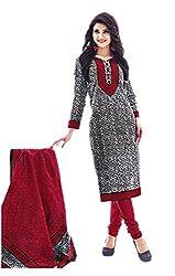 Aarvi Women's Cotton Unstiched Dress Material Multicolor -CV00076