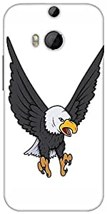 Snoogg Bald Eagle Vector Illustration Designer Protective Back Case Cover For HTC M8