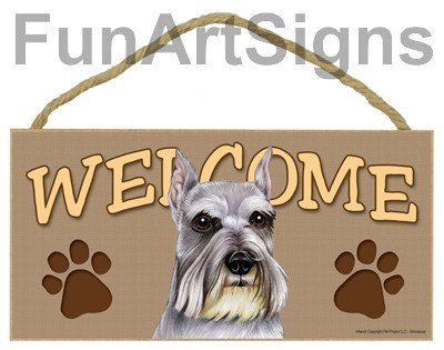 Schnauzer Welcome Sign - Wooden Sign promo code 2016