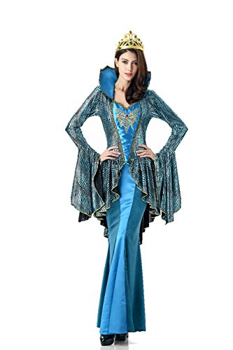 [GoLoveY Women's Deluxe Elegant Queen Lady Princess Costume] (Deluxe Guinevere Adult Costumes)