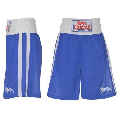 Lonsdale Boxing Trunks Mens Blue/White Youth