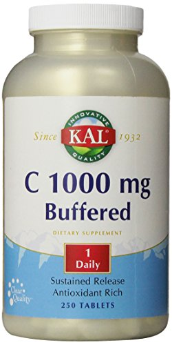 Kal C-1000 Buffered Sustained Release Tablets, 1000 Mg, 250 Count