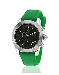 Yepme Mens Chronograph Watch - Black/Green_YPMWATCH1745
