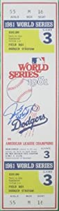 Steve Yeager Autographed Signed 1981 World Series Game 3 Mini Mega Ticket Featuring... by Southwestconnection-Memorabilia