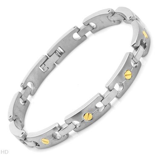 Titanium Men's Bracelet. Length 9 in. Total Item weight 21.2 g.