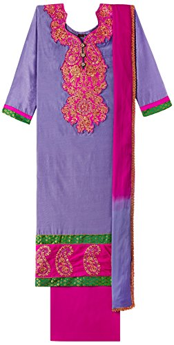 Mina Bazaar Women's Dress Material (MBUNS00315_Purple ...
