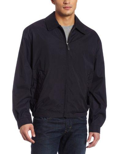 London Fog Men's Zip Front Light Mesh Lined Golf Jacket, Navy, large