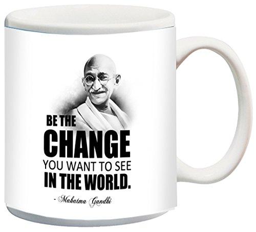 Posterboy 'Gandhi Be the Change' Ceramic Mug