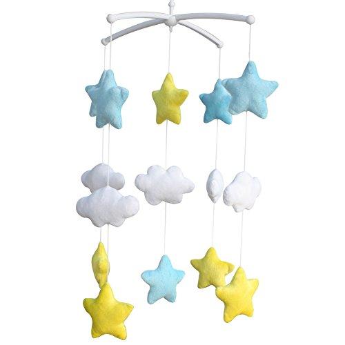 Glnzende-Sterne-Entzckende-Babybetten-Dekoration-Musik-Mobile
