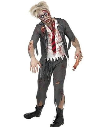 Smiffy's Men's High School Horror School Boy Costume, Red/White/Grey, Medium