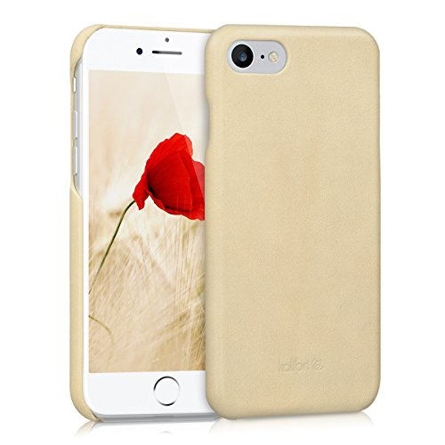 kalibri-Echtleder-Backcover-Hlle-fr-Apple-iPhone-7-Leder-Case-Cover-Schutzhlle-in-Beige
