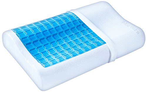 PharMeDoc Cooling Gel Contour Memory Foam Pillow with Removable Case - Firm and Comfortable Support - Best Cooling Pillows for Neck Pain and Headaches - Pillows for side sleepers (Cooling Memory Foam Pillow King compare prices)
