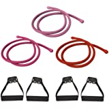 P90X Comfort Grip Resistance Bands Workout Kit - Set of 3: Light, Medium, Heavy