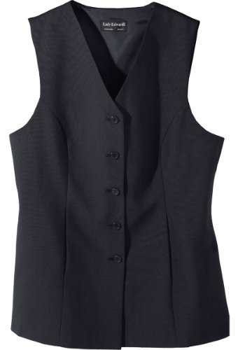 Ed Garments Women'S Sleeveless Long Length Tunic Vest, Dark Navy, Xxxx-Large front-365625